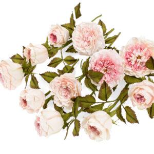 trandafirul david austin din hartie creponata