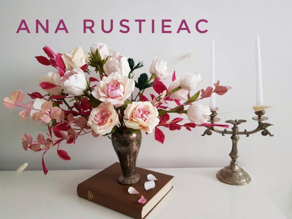 aranjament floral asimetric